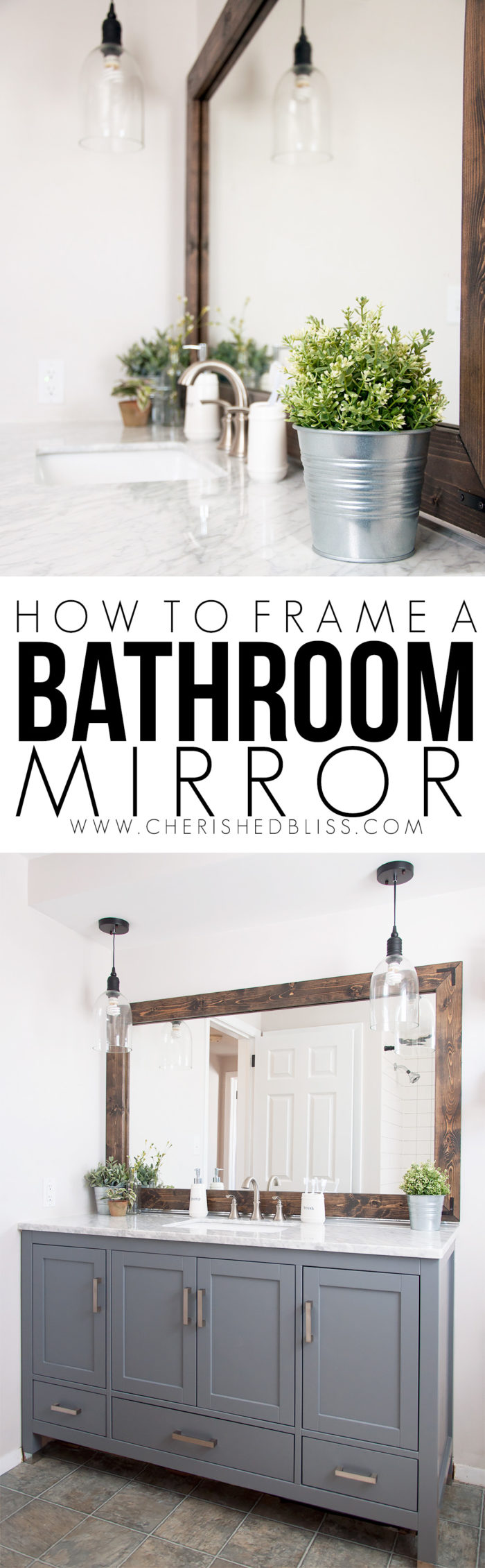 How To Frame Pictures How To Frame A Bathroom Mirror Cherished Bliss