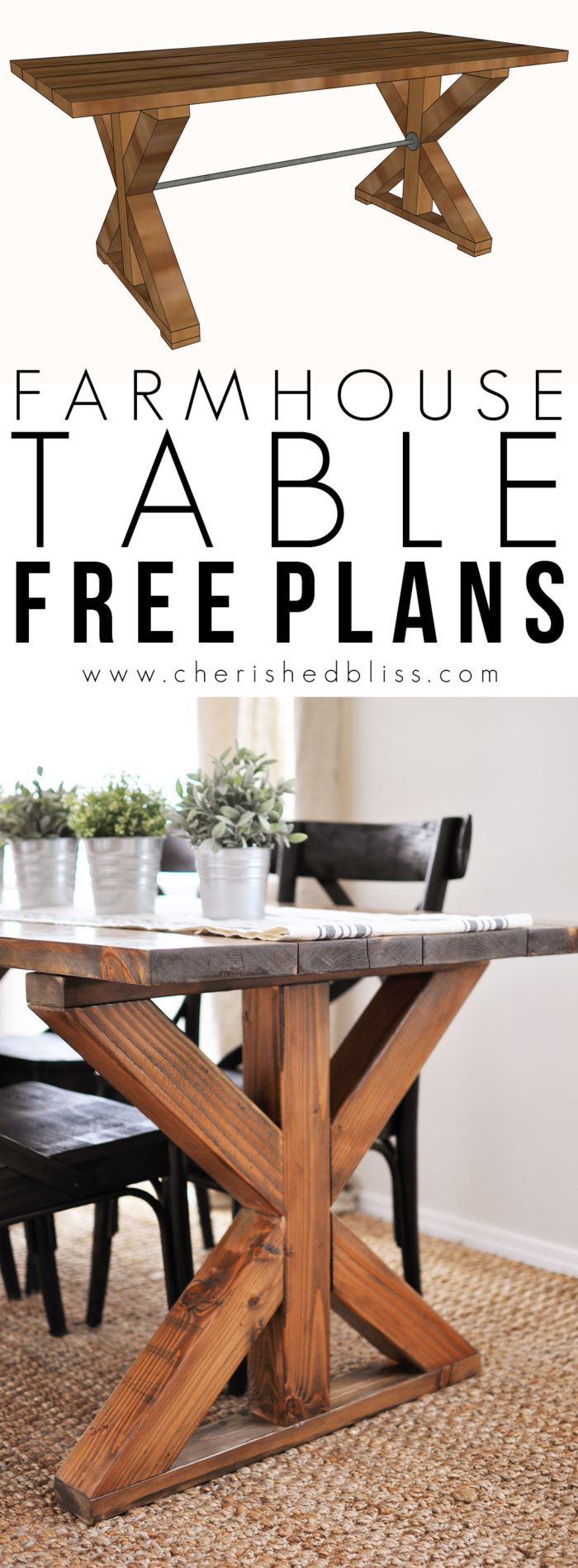 Free Dining Room Table Plans Homdesigns