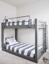 DIY Industrial Bunk Bed Free Plans - Cherished Bliss