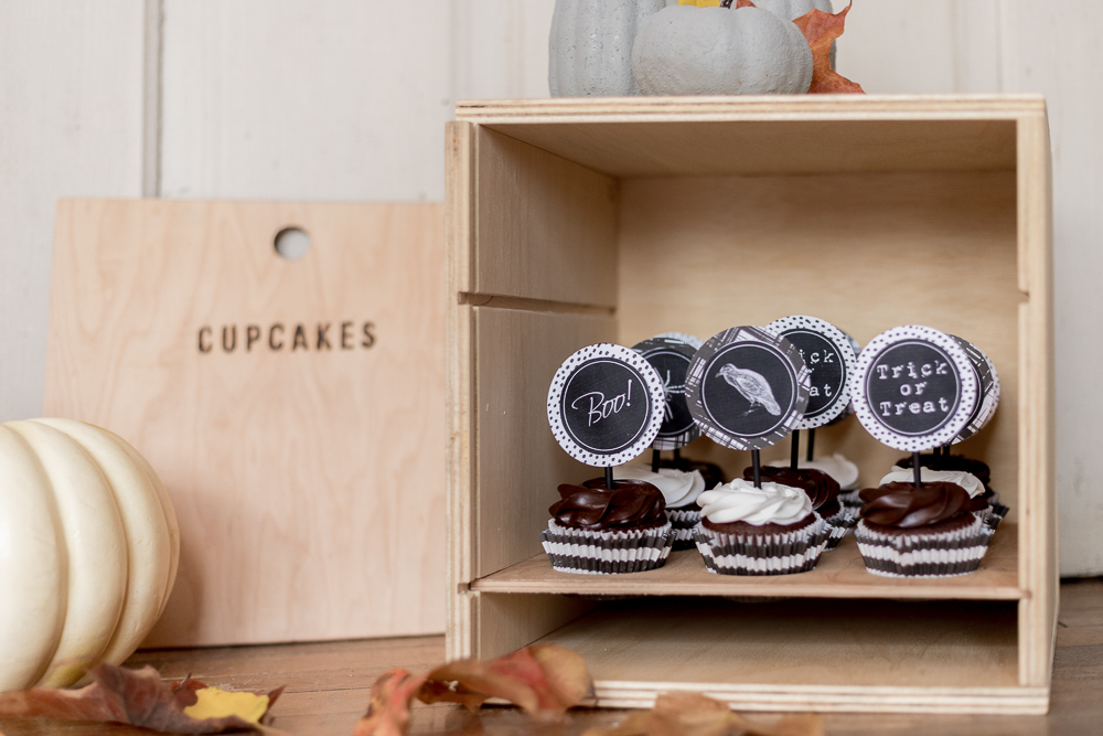 Halloween Cupcake Toppers - Free Printable - Cherished Bliss