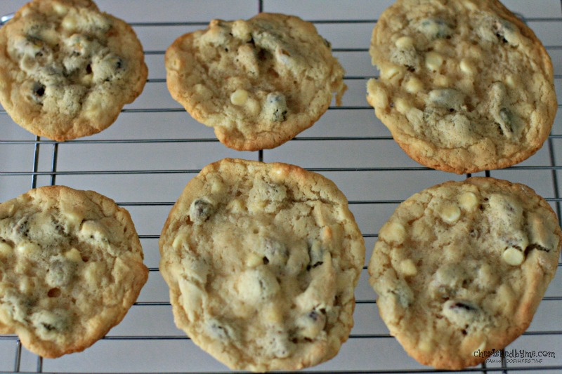 Mmmmm yummy white chocolate chip pistacho cookies, quick & easy to make- Cherished By Me