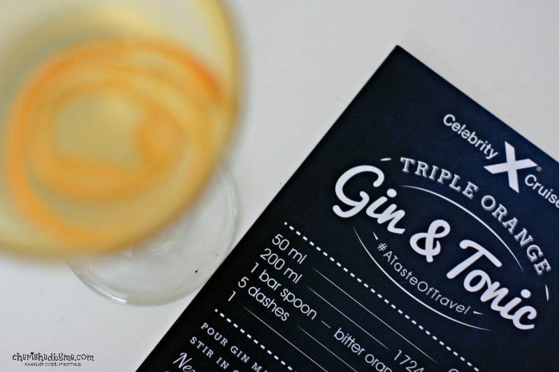 Triple Orange Gin and Tonic with Celebrity Crusies- Cherished By Me
