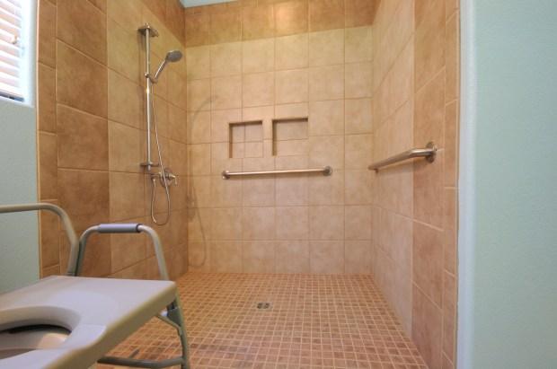 roll-in & walk-in showers chermac roll in shower