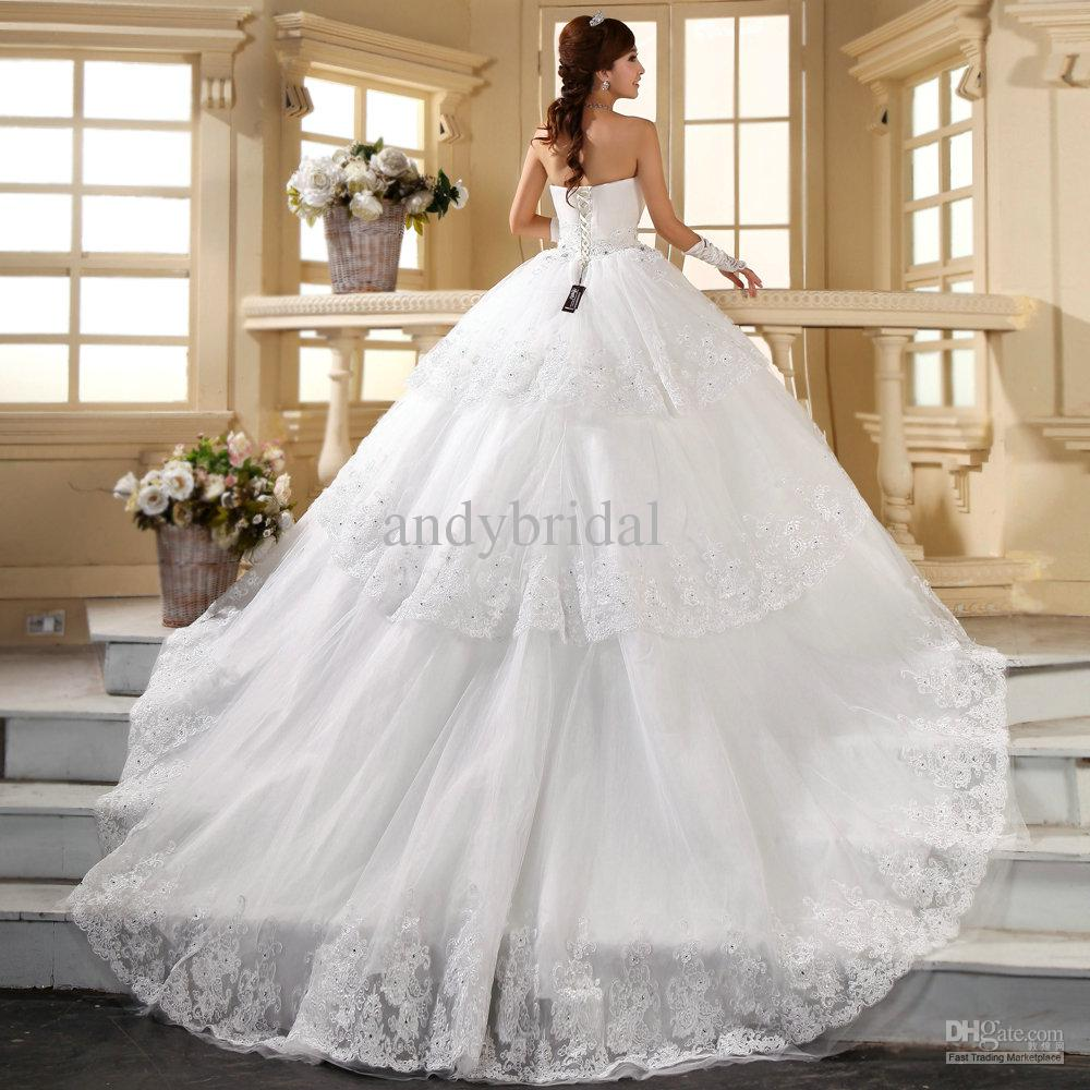 wedding gowns with long trains wedding dresses long train Wedding Gowns With Long Trains 92
