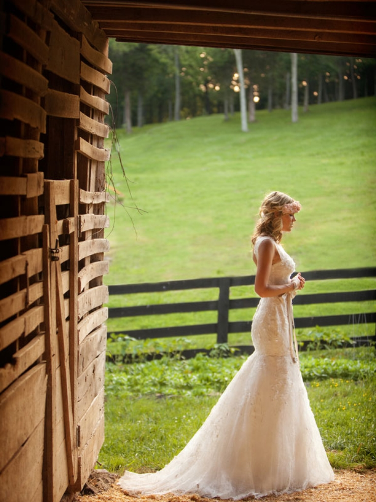 Rustic mermaid wedding dresses cherrymarry for Wedding dresses for country wedding
