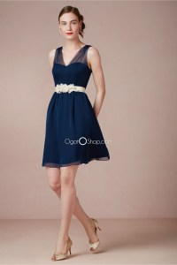 Bridesmaid Dresses Navy Blue Short - Wedding Dresses In Jax
