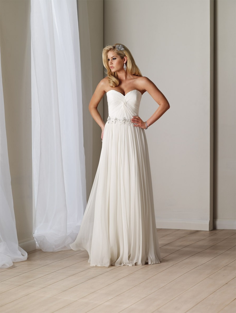 strapless chiffon a line wedding dress wedding dress chiffon Index Of Wp Content Uploads 04 White Chiffon Strapless Sweetheart Destination A Line Wedding Dress