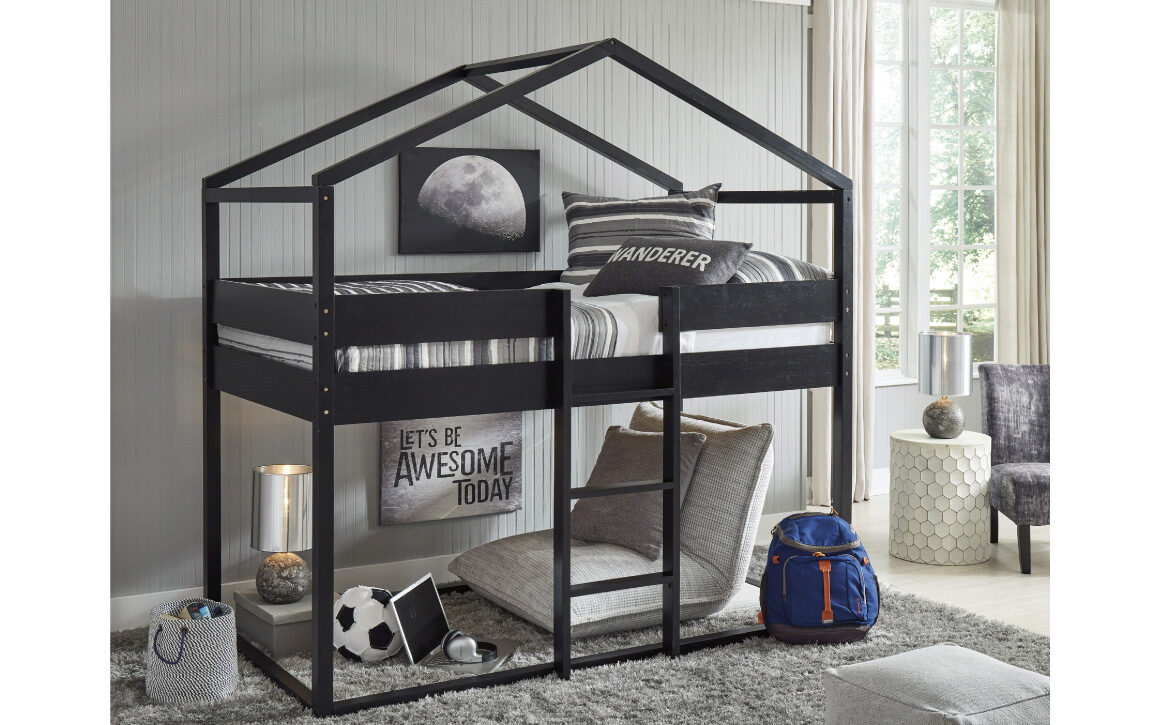 Flannibrook Twin House Loft Bed Chervin Furniture Design