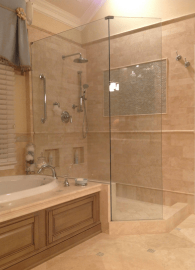 Houzz Showers Winter Houzz Custom Bathroom Remodel Survey; Alpharetta