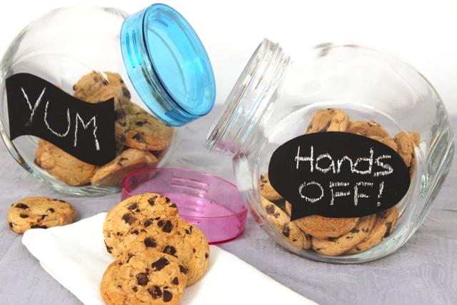 How to Make DIY Chalkboard Cookie Jar Labels - Cheryl\u0027s Cookies and