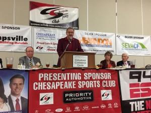 Photo by Adam Winkler - Chesapeake Sports Club, November Speaker Ronald Saul