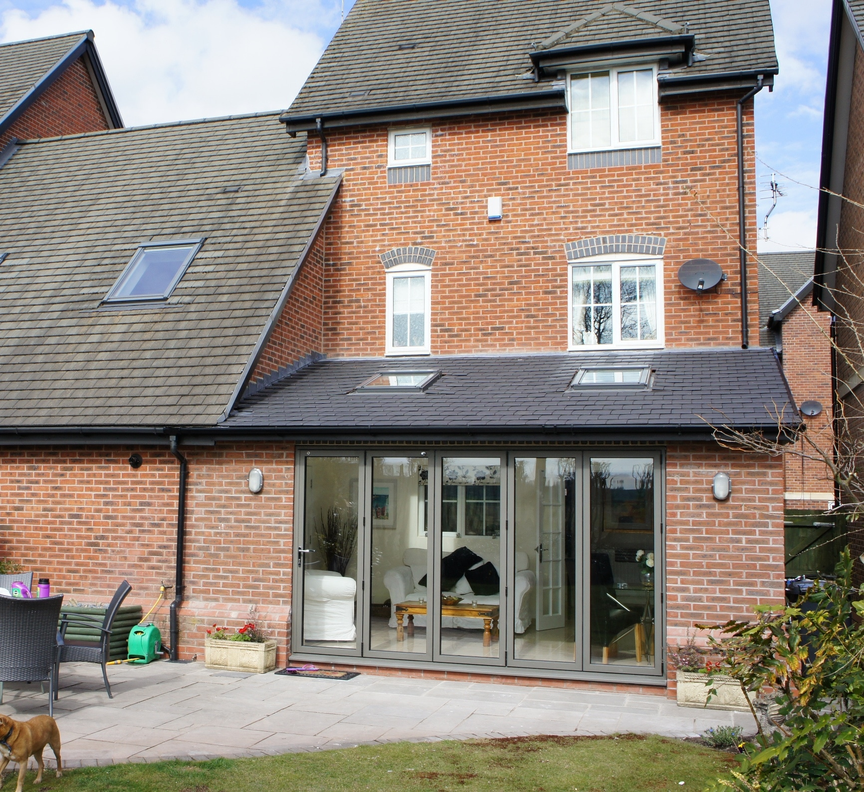 Kitchen Extensions With Velux Windows House Extension Single Storey With Bi Fold Doors Velux Lymm