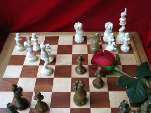 flowers chessmen
