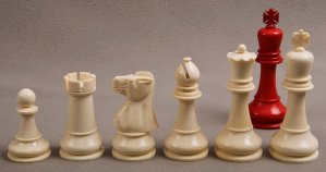 Antique Baruch H Wood Staunton Chess Set