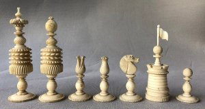 "English Barleycorn Chessmen, 5"" King."