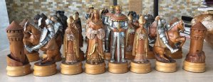 "Anri Monsalvat Chess Set, 7"" King"