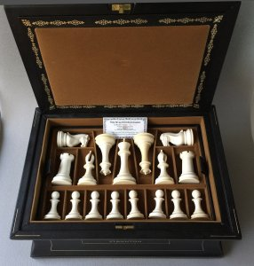 Mammoth Ivory 1849 Staunton Chessmen