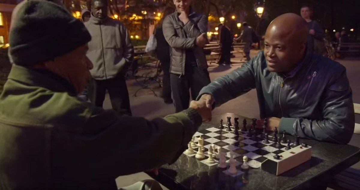 Chess Hustler meets a grandmaster