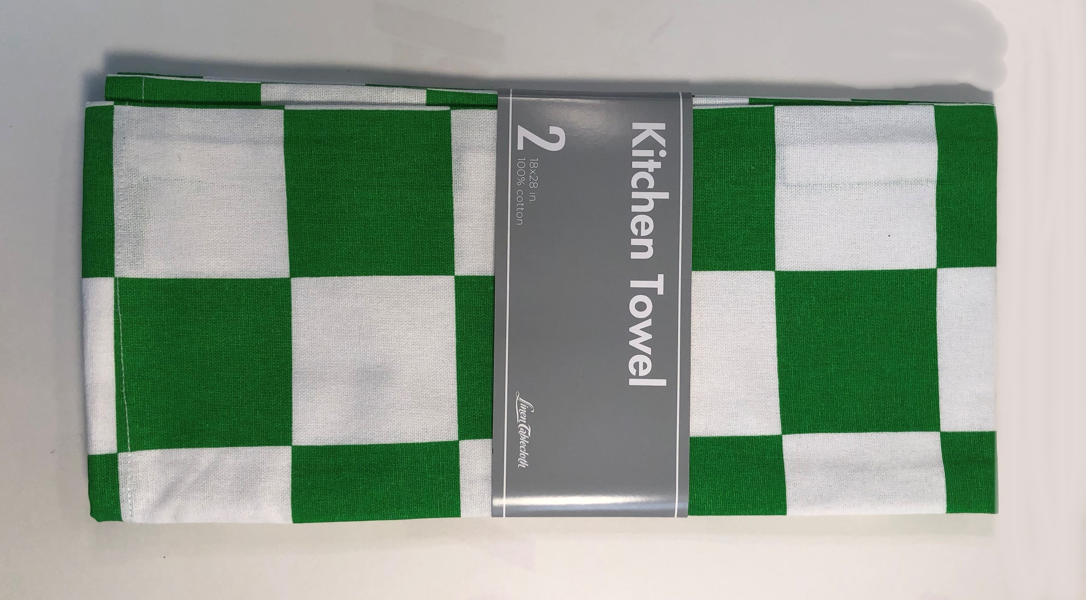 2 Pack Kitchen Chess Kitchen Towel 2 Pack Green White 100 Cotton Cloth 18x28 Inch