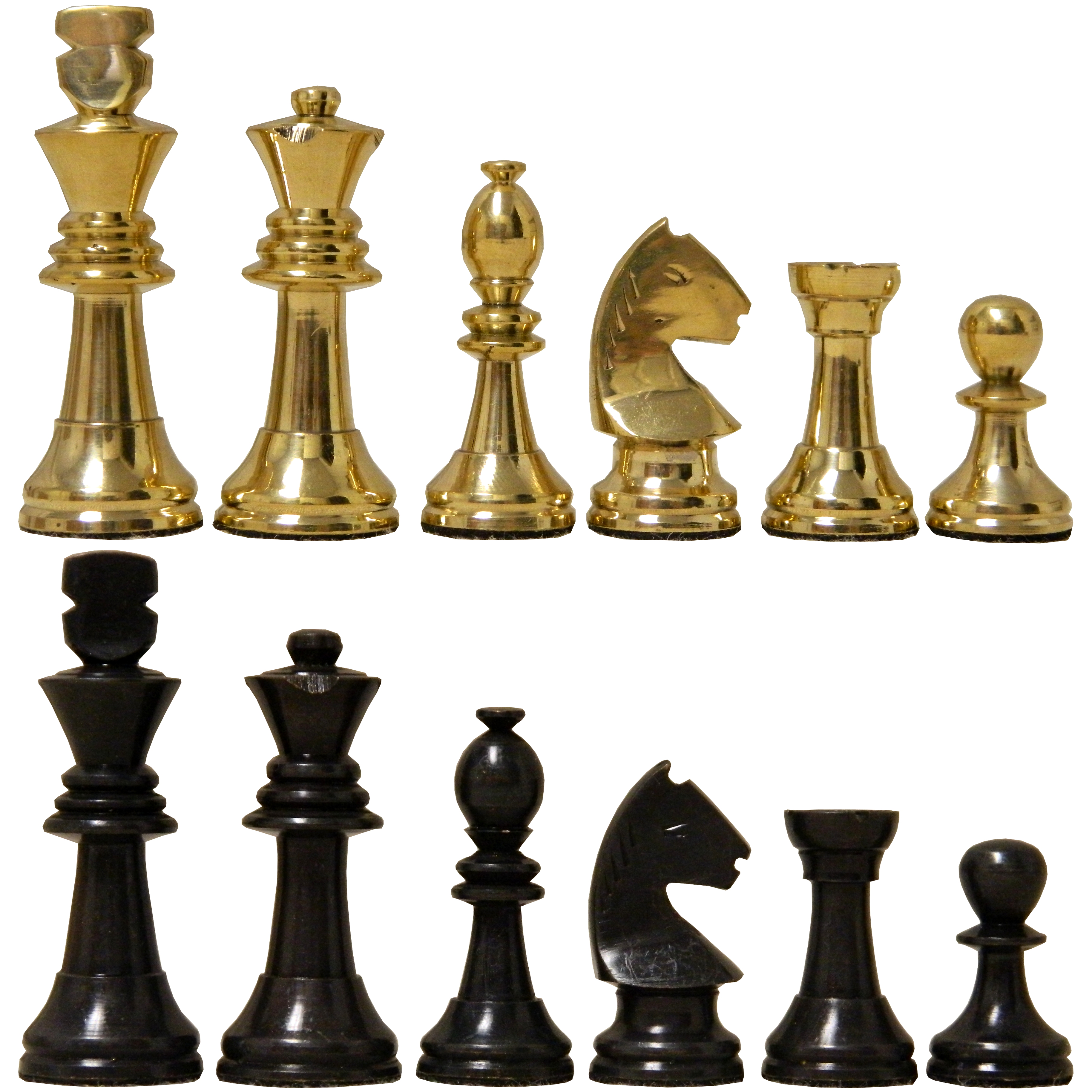 Gold Chess Pieces 2 1 2