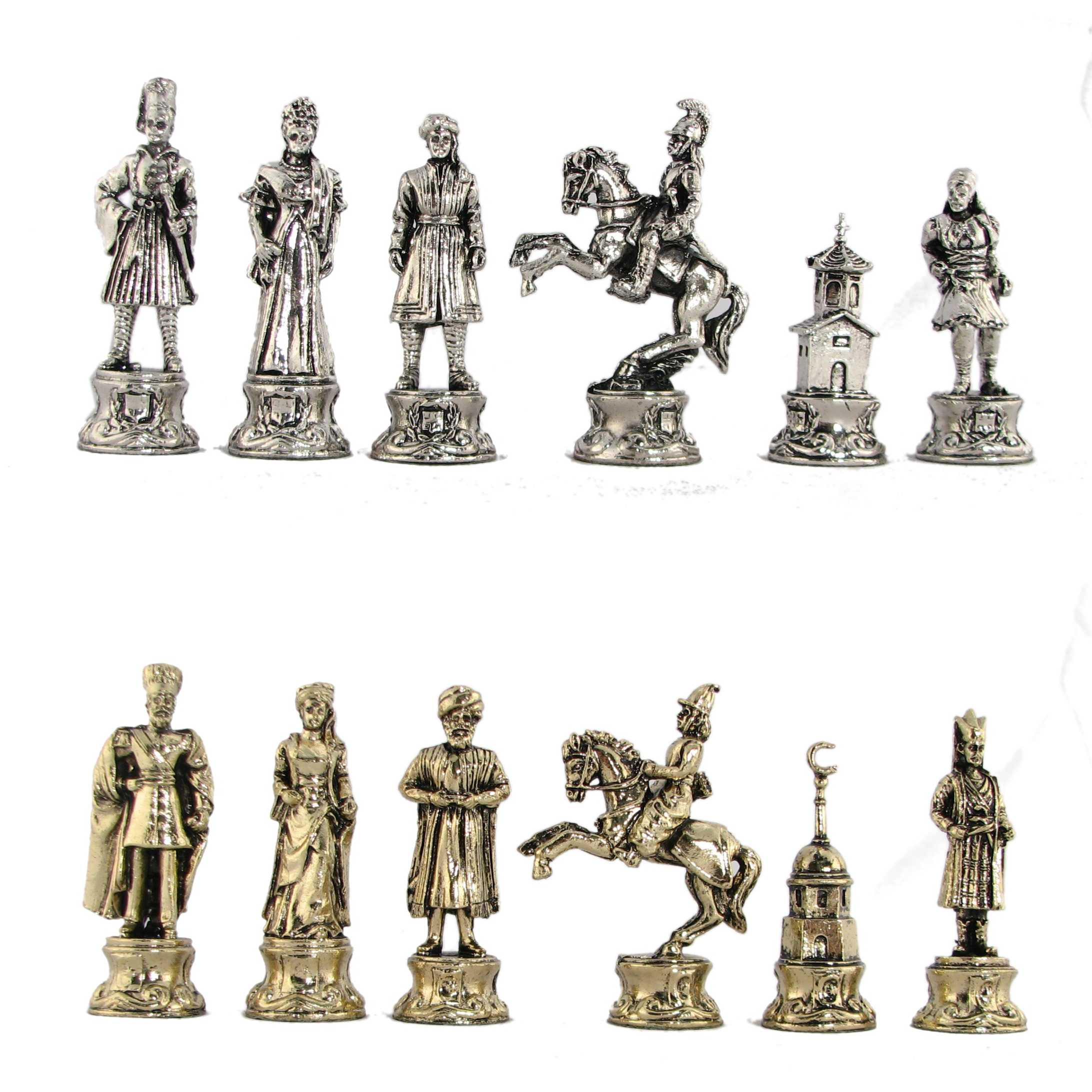 Steel Chess Pieces 3 Quot Ottomans And Greeks Metal Chess Pieces