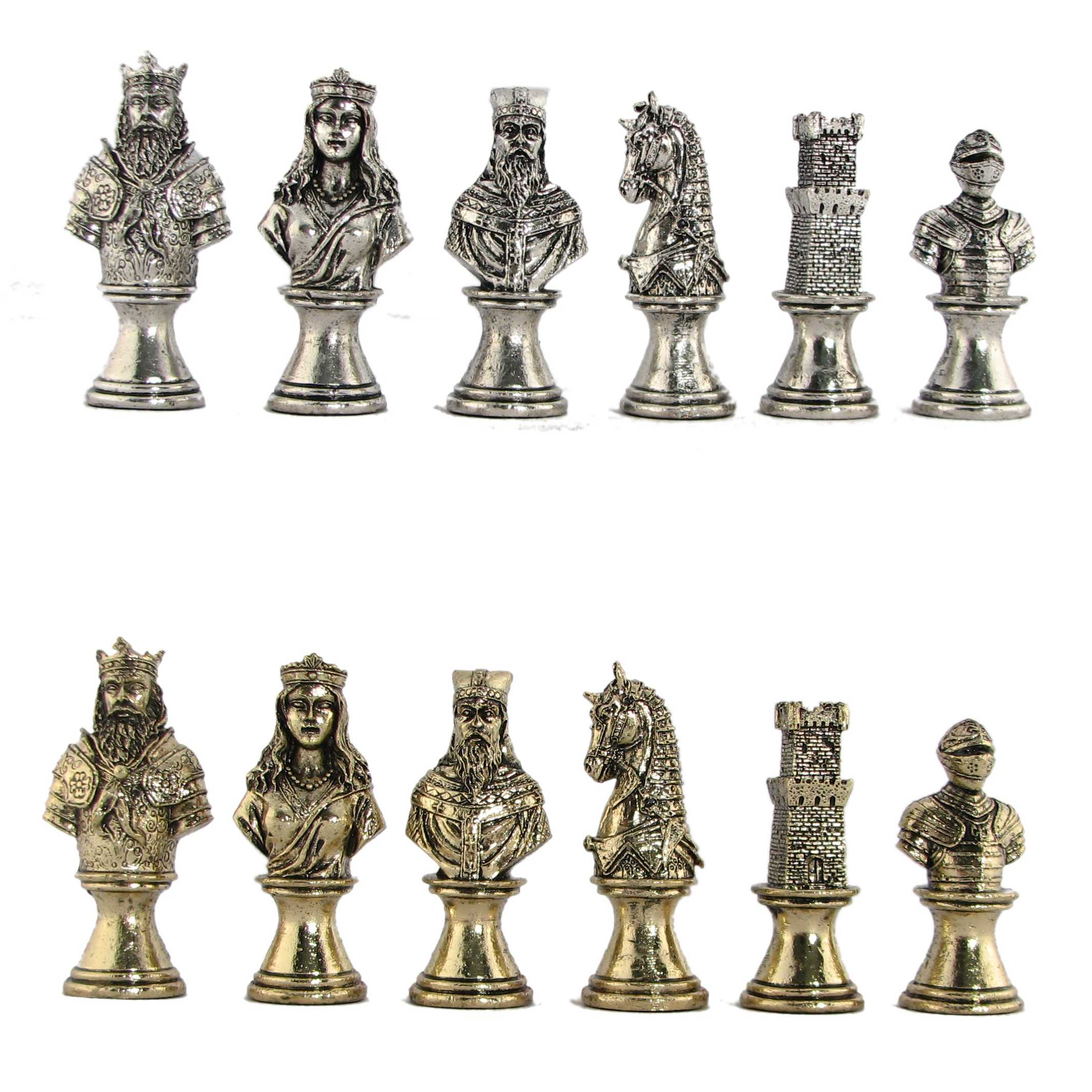 Steel Chess Pieces 3 Quot Medieval Knights Metal Chess Pieces