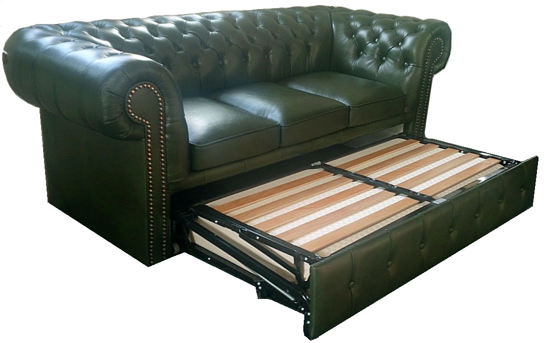 Chesterfield Garnitur Chesterfield 3er Schlafsofa