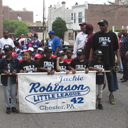 Chester's Jackie Robinson Little League held its traditional parade marking the opening of their ninth season. They marched from Columbus School and ended at Crozer Park.