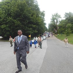 Yeadon Mayor Rohan Hepkins led the annual Flag Day parade in the borough whose resident, William Kerr, petitioned the federal government and, after many years, succeeded in getting the national holiday in 1949.