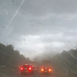 Ugly storms devastated the area as shown here by Loretta Rodgers
