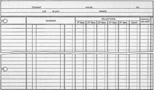 Section 42 Rent Ledger - rent roll form