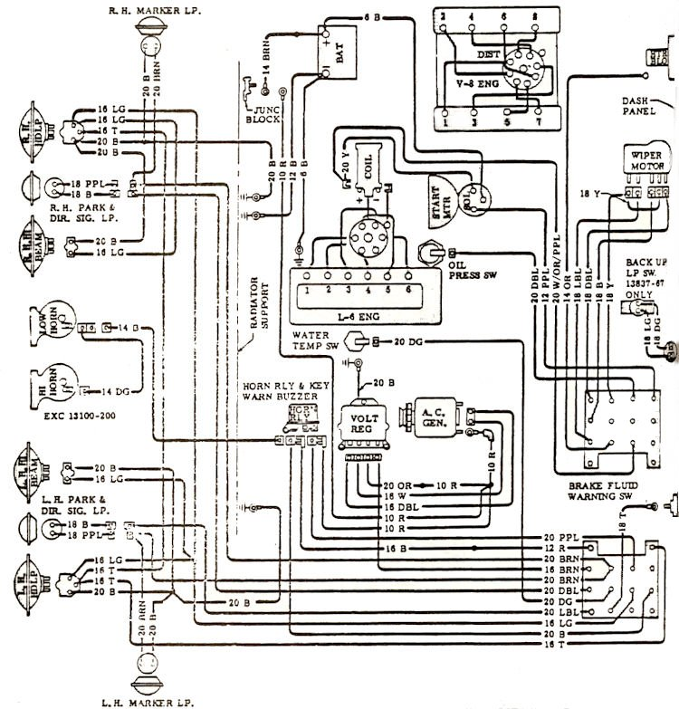 1965 chevy chevelle wiring diagram