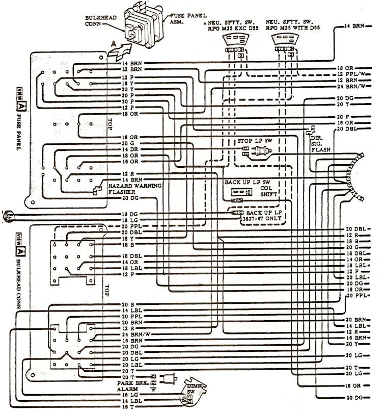 1968 chevelle electrical wiring diagram