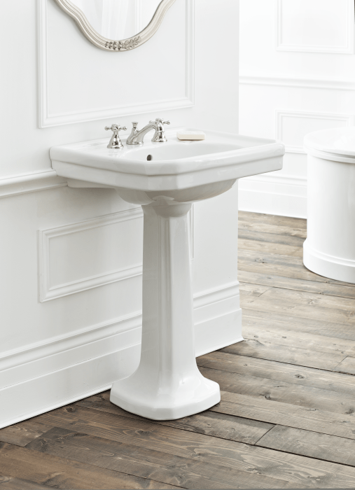 Large Mayfair Pedestal Sink Cheviot Products