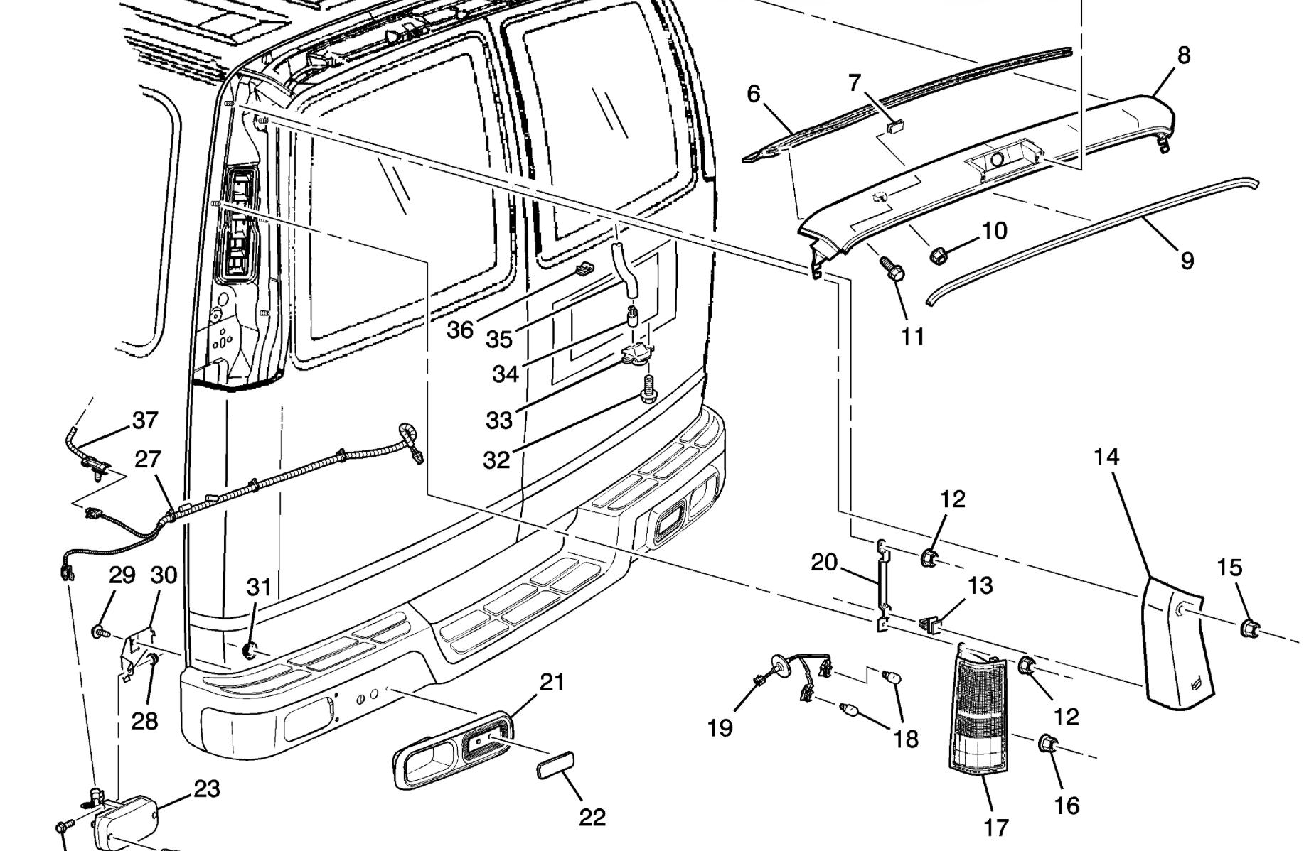 astro van trailer wiring harness