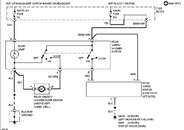 Novice - Need rear wiper circuit diagram for 94 s10 blazer suv