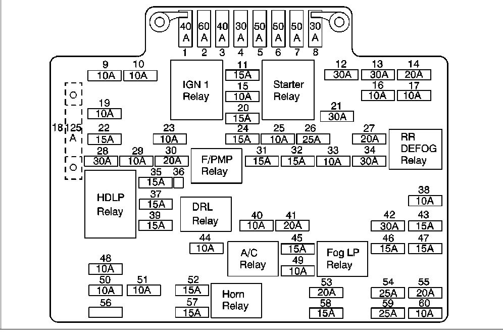 2001 chevy 1500 silverado fuse diagram