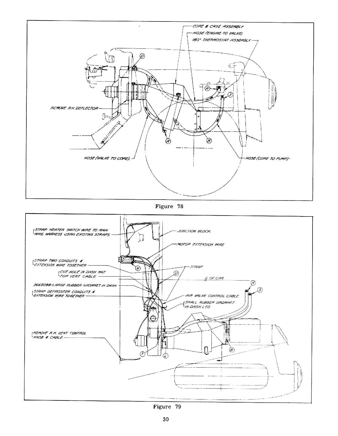 1953 chevrolet heater hose routing