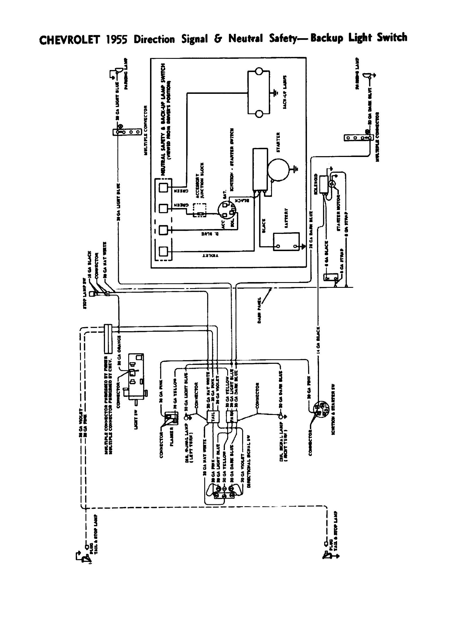 55 chevy turn signal wiring diagram
