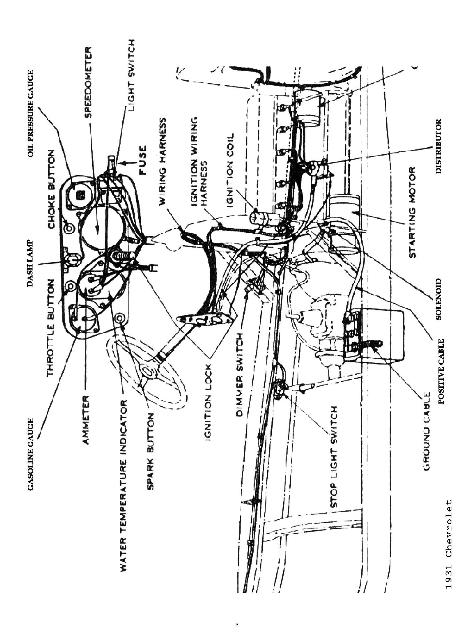 harness diagram for 1931 chevrolet