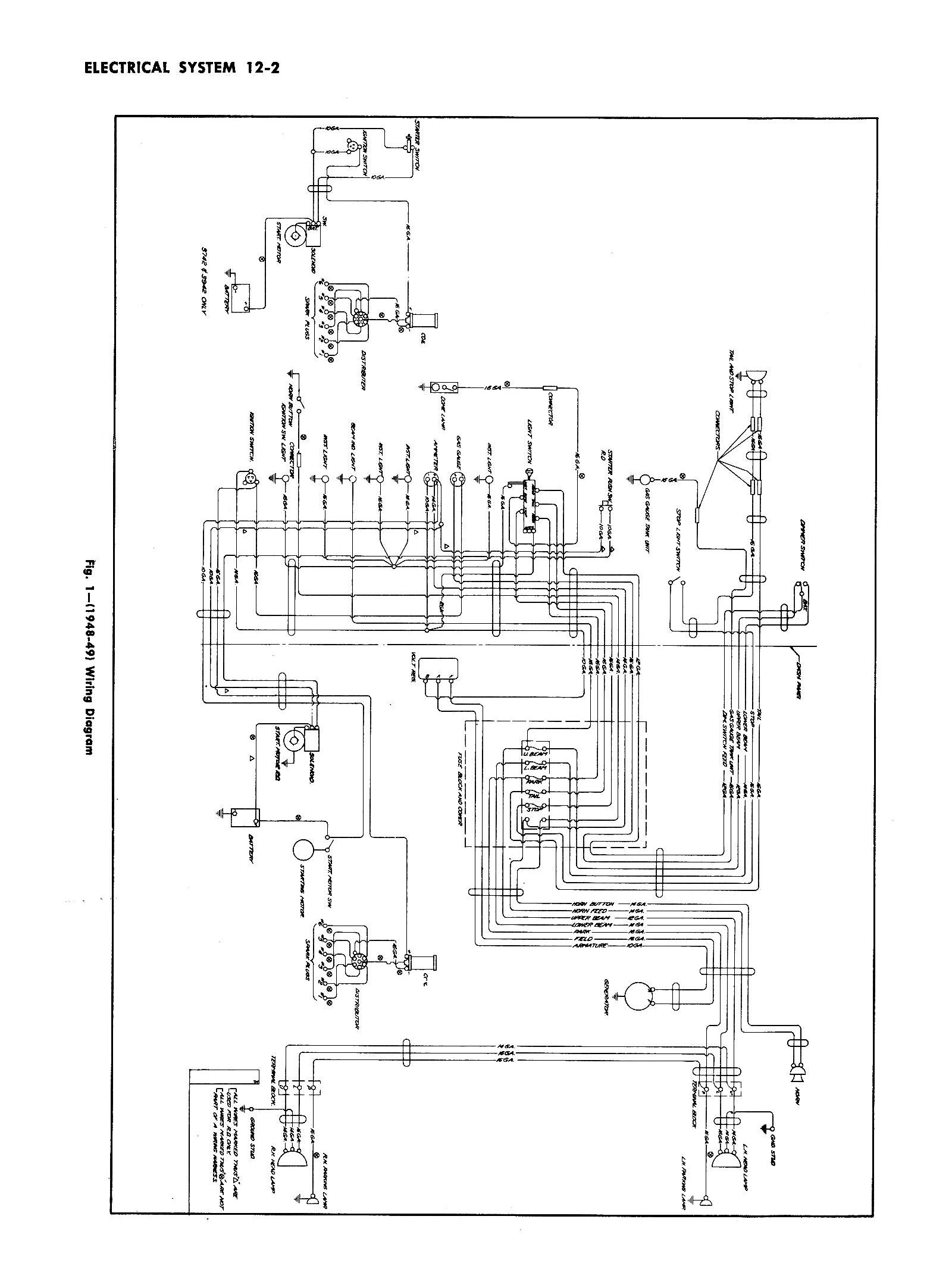 1950 dodge truck wiring diagram