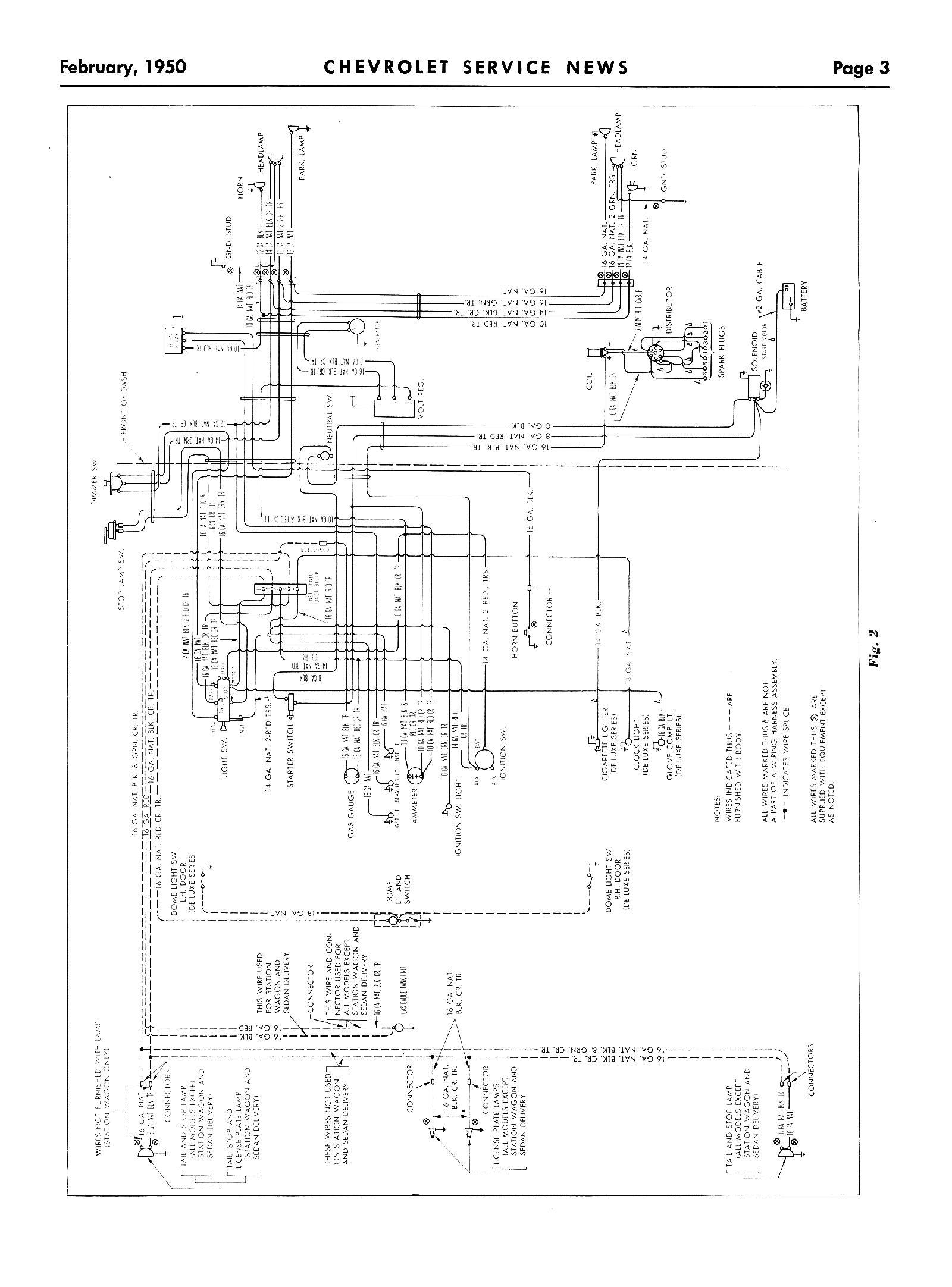 1950 chevy truck headlight switch wiring