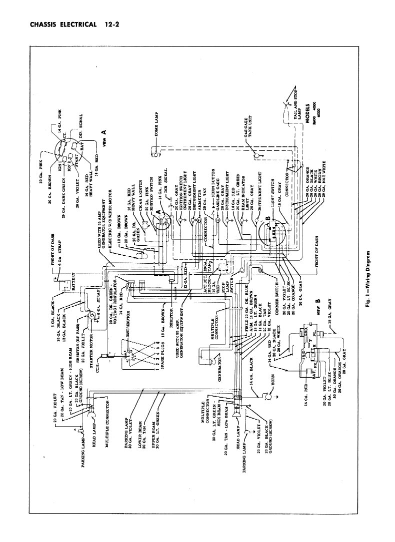 1955 2nd series chevy truck wiring diagram