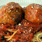 Easy Slow Cooker Pesto Meatballs