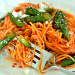 Angel Hair Pasta with Roasted Red Pepper Sauce