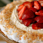 Strawberry Piña Colada Pie – #RevIndy with Clabber Girl and a Rex Roasting Company Giveaway!