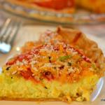 Tomato and Corn Custard Pie