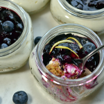Mini No-Bake Blueberry Cheesecakes