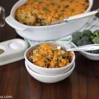 Creamy Buffalo Chicken Quinoa Bake with Broccoli and Kale