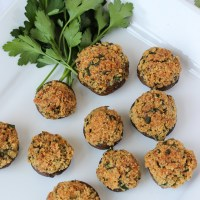 Stuffed Mushrooms {Gluten Free} & a GIVEAWAY